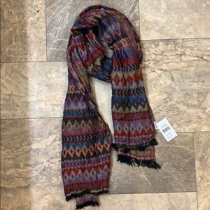 🆕Buckle Purple Multi Diamond Aztec Boho Scarf